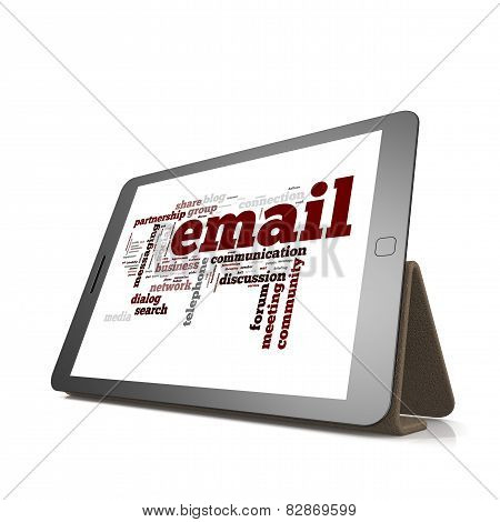Email Word Cloud On Tablet