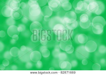 green circle shape boke as background