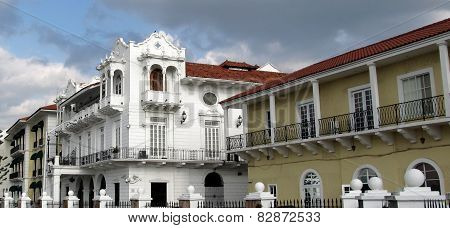 Panama's Presidential Palace, located in Casco Antiguo - UNESCO patrimony in old Panama City