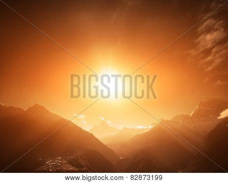 Beautiful mountain lanscape.