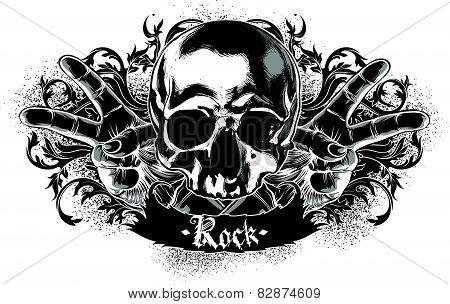 decorative symbol of rock