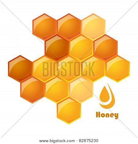 vector illustration of honeycomb