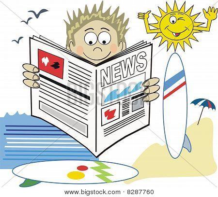 Surfer newspaper cartoon