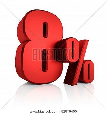 Red 8 Percent