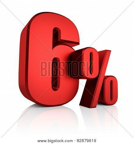 Red 6 Percent