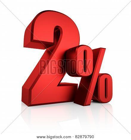 Red 2 Percent