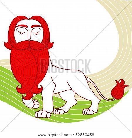 Beard lion