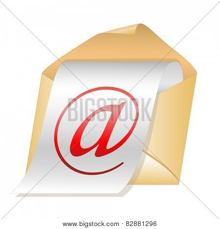 E-mail icon isolated on white background.