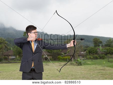 Businessman With Bow