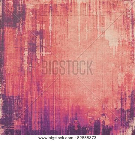 Art grunge vintage textured background. With different color patterns: red (orange); purple (violet); pink