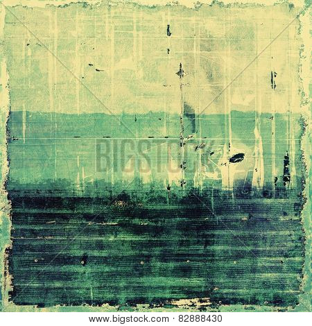 Old and weathered grunge texture. With different color patterns: yellow (beige); green; blue