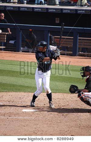 Ichiro Suzuki Awaiting Pitch.