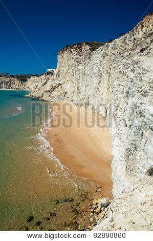 Remote Beach At Scala Dei Turchi