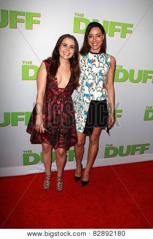 LOS ANGELES - FEB 12:  Mae Whitman, Aubrey Plaza at the