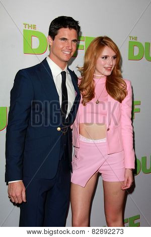 LOS ANGELES - FEB 12:  Robbie Amell, Bella Thorne at the