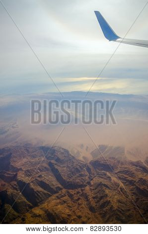 Sinai Mountains With Flight Altitude