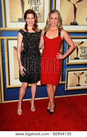 LOS ANGELES - FEB 14:  Lennon Parham, Jessica St. Clair at the 2015 Writers Guild Awards at a Century Plaza Hotel on February 14, 2015 in Century City, CA