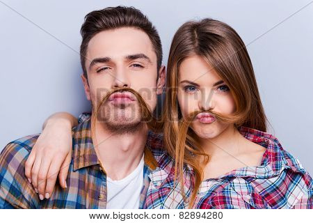 Funny Moustache.
