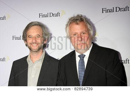 LOS ANGELES - FEB 12:  Scott Alexander, Larry Karaszewski at the 10th annual Final Draft Awards at a Paramount Theater on February 12, 2015 in Los Angeles, CA