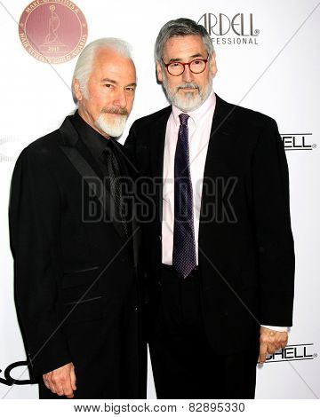 LOS ANGELES - FEB 14:  Rick Baker, John Landis at the 2015 Make-up and Hair Stylists Guild Awards at a Paramount Theater on February 14, 2015 in Los Angeles, CA
