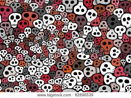 Seamless Skulls background