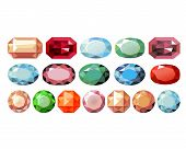 picture of precious stone  - precious stones of different color and shape - JPG