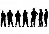 image of special forces  - People of special police force on white background - JPG