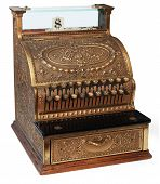 image of cash register  - old fashioned cash register - JPG