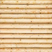 image of log fence  - log wall of yellow pine for background - JPG