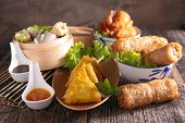 picture of nem  - assortment of asian cuisine - JPG