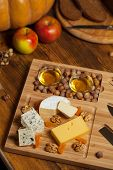 pic of brie cheese  - Cheese plate with cheese Dor blue - JPG