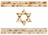picture of matzah  - Israeli flag made with Matzo texture illustration - JPG