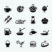 stock photo of continental food  - Food Icon - JPG