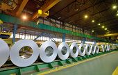 pic of coil  - rolls of steel sheet in a plant galvanized steel coil - JPG