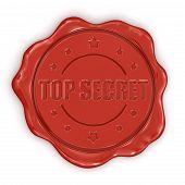 image of top-secret  - Wax Stamp Top Secret - JPG