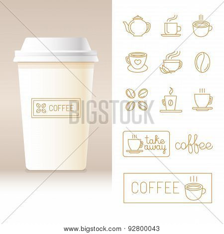 Vector Realistic Coffee To Go Cup Template