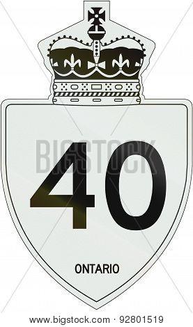 Ontario Highway Shield 40