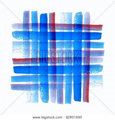 Watercolor Vector Pattern, Hand Drawn Brush Textured Image Paint