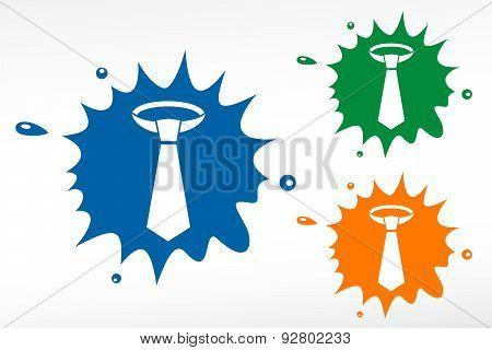 Necktie - Vector Color Blob