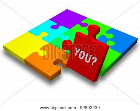 Puzzle Piece With The Text