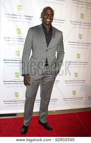 LOS ANGELES - JUN 2:  Lance Reddick at the United Friends of the Children Brass Ring Awards Dinner at the Beverly Hilton Hotel on June 2, 2015 in Beverly Hills, CA