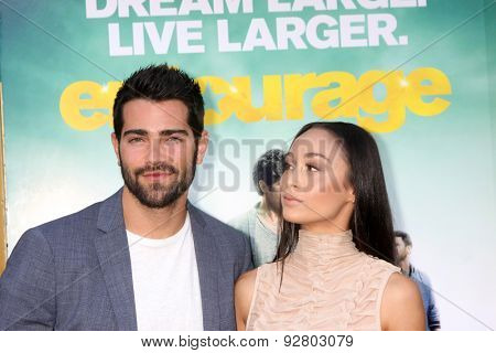 LOS ANGELES - MAY 27:  Jesse Bradford, Cara Santana at the
