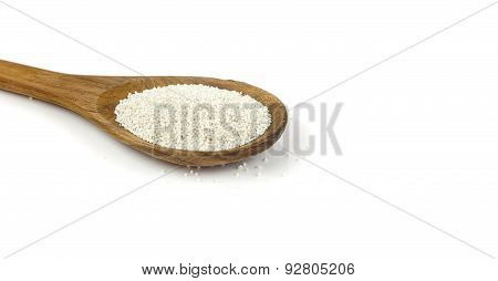 Spoon Of Small Tapioca Pearls Flour