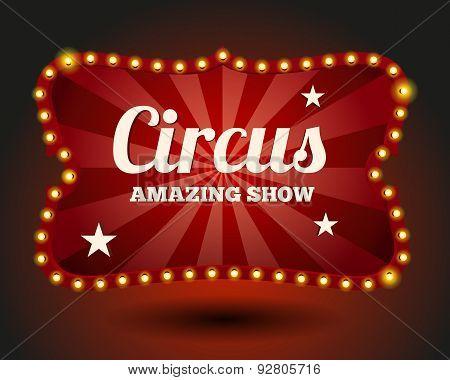 Circus lightbulb border