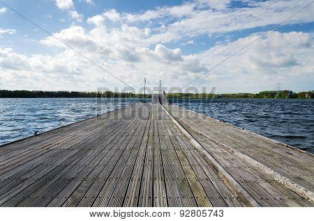 Wooden Pier In Almere