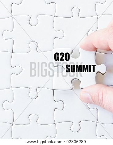Last Puzzle Piece With Word G20 Summit