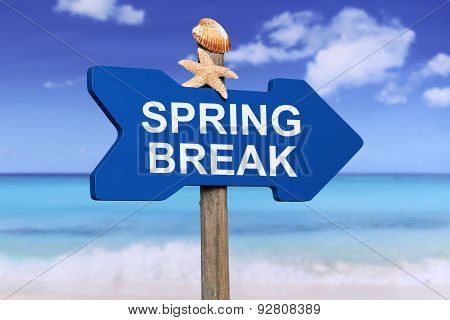 Spring Break On The Beach In Summer Vacation