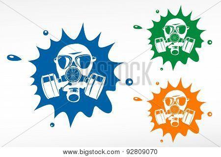 Gas Mask. Color Blob
