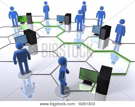 Computer on a business network