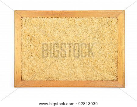 Brown Cane Sugar In Frame